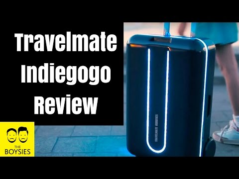 Episode 34 - Travelmate Indiegogo Review - a Fully Autonomous Suitcase and Robot!