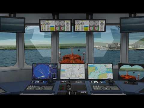 Ship bridge simulators for training, practicing and planning