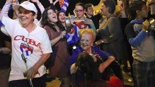 Crowds cheer Castro's death in Miami