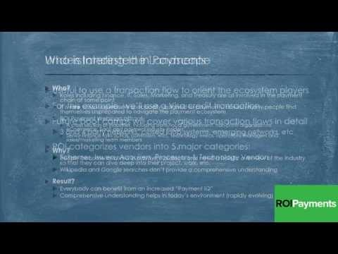 Payments IQ Bootcamp #1 - Names and Nomenclature in the Mode