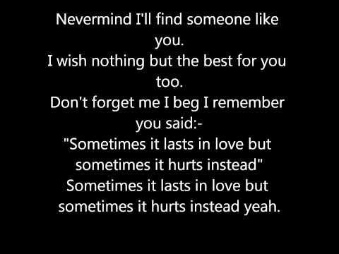 Someone Like You Adele lyrics