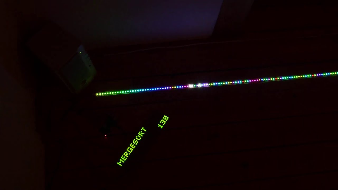 BlinkenSort - The Sound of LED Sorting without Commentary