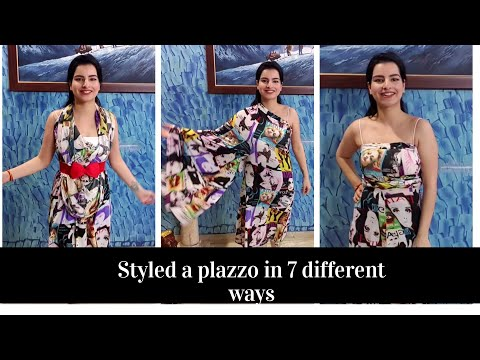 how-to-wear-plazzo-like-a-dress,-unique-way-to-style-a-plazzo-pant-#plazzostyling