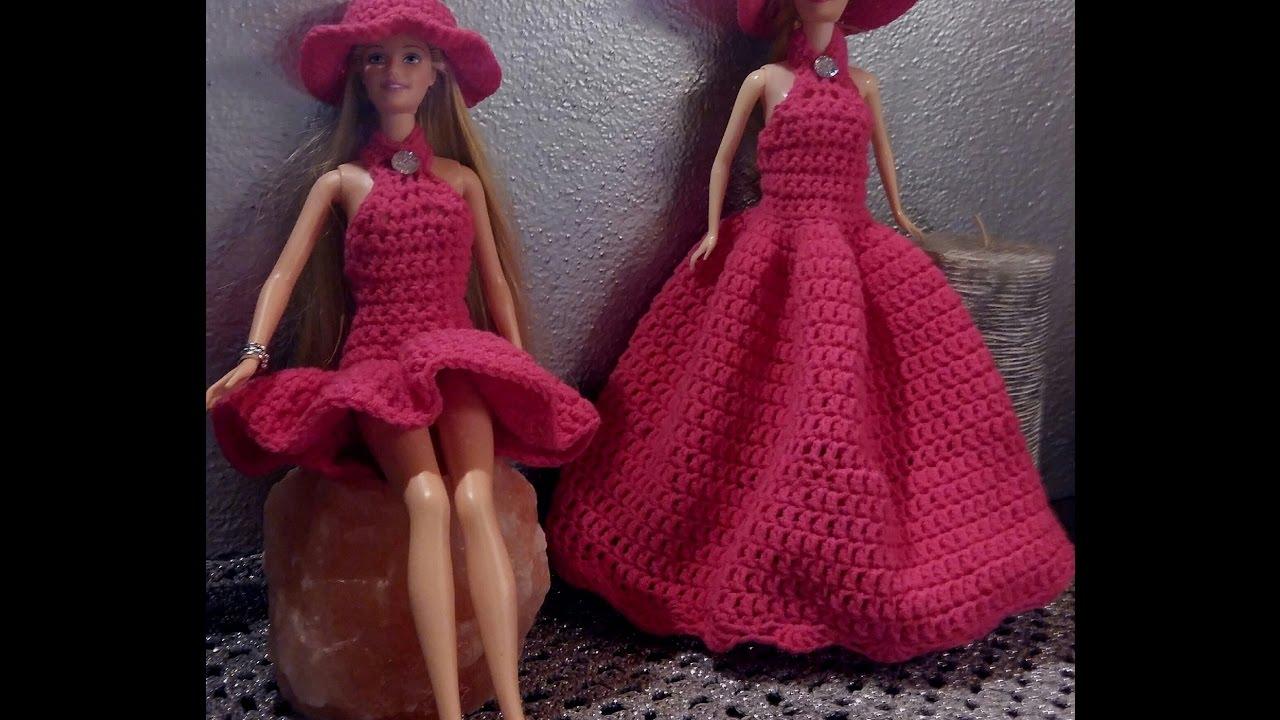 Cappello Barbie 1 In 2 Versioni Tutorial Uncinetto Youtube