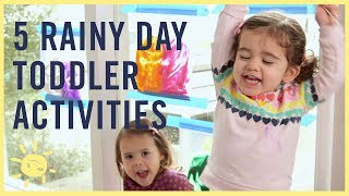 Play | Rainy Day Toddler Activities!