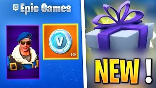 OFFER SKINS AND V-BUCKS TO HIS AMIS ON FORTNITE!