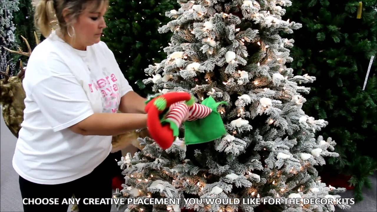 elf legs wreath enhancement youtube - Elf Legs Christmas Decoration