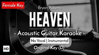 [FEMALE KARAOKE] Heaven - Bryan Adams (Acoustic Guitar + Lyric)