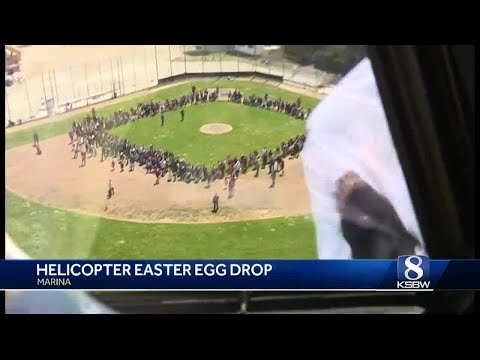 First ever helicopter Easter egg drop in Monterey County