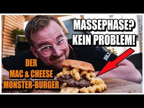 Der FETTESTE MAC'N'CHEESE BURGER ever! Wir bauen eine wahre Kalorienbombe! Mac and Cheese Rezept!