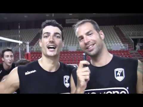 Kioene Padova, Travica presenta i compagni di squadra