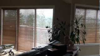 """Huanes Automated Blinds Vancouver -  2""""  Wood Blinds Fauxwood - Somfy Automated Motorized Blinds"""