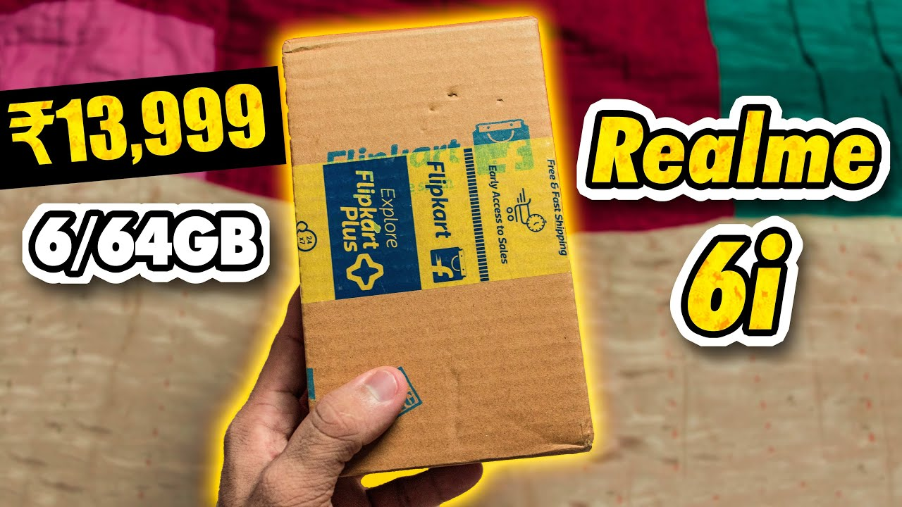Realme 6i Unboxing - Flipkart Sale Unit   90Hz Display   Helio G90T