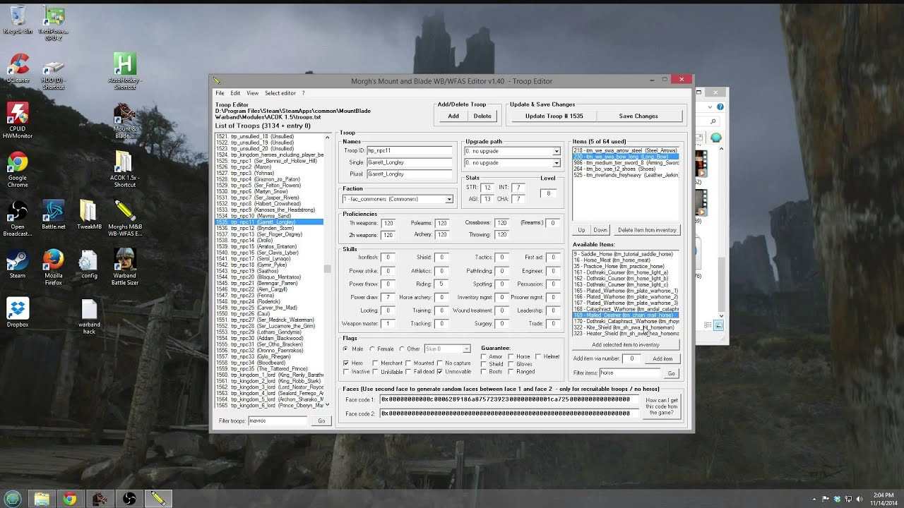 Warband editing tutorial morghs troops factions parties warband editing tutorial morghs troops factions parties character importexport gumiabroncs Choice Image