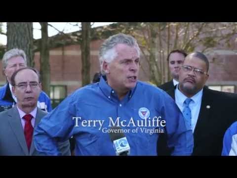 Governor Terry McAuliffe Visits Virginia Beach