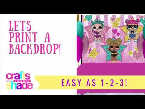 How To  Print A Backdrop - Banner - Or Step And Repeat Tutorial