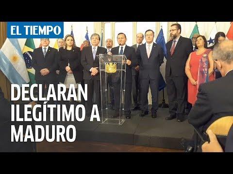 Grupo de Lima no reconocerá a Nicolás Maduro como presidente de Venezuela | EL TIEMPO