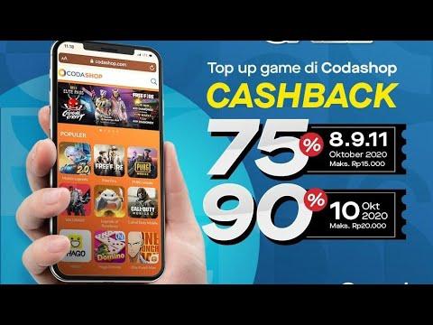 Promo Codashop 10 10 Cashback Gopay 90 Semua Game Flashsale Oktober 2020 Youtube