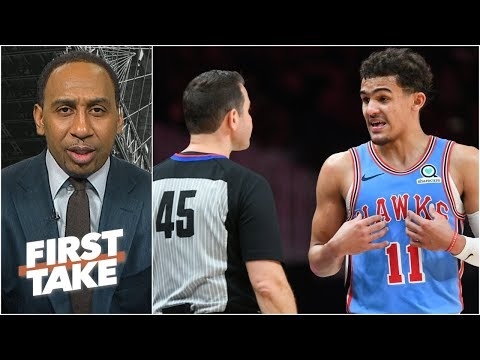 Trae Young's ejection was an excessive move by the NBA – Stephen A.   First Take thumbnail