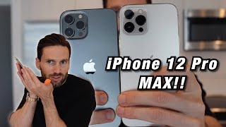 iPhone 12 Pro Max GOLD & GRAPHITE UNBOXING!! (Which is THE BEST iPhone Color?)