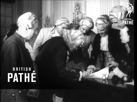 Reconstruction Scene Of The Signing Of The Declaration Of Independence (1951)