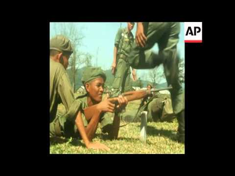 synd 25-7-70 CAMBODIAN TROOPS UNDERTAKE TRAINING IN SOUTH VIETNAM