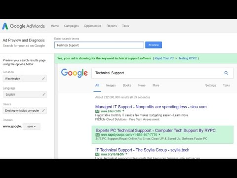 Generate Tech support inbound calls using ethical Google AdWord campaign