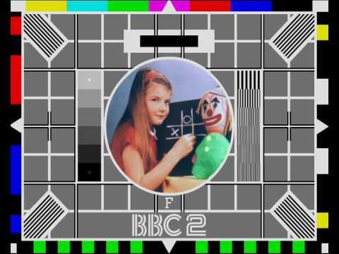 BBC 2 Test Card Mock - Tape Interchange from 1985