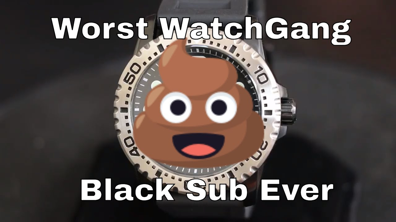 2a816718b9d8 Watch Gang Black Review  HLA 5501 Quartz Dive watch - YouTube