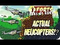 Crazy Actual Helicopters In Forts - Forts Multiplayer Gameplay
