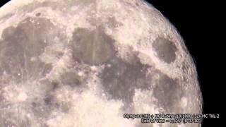 Луна на 500, 1000, 2000, 4000 мм объектив.