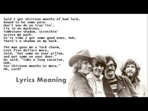 Creedence Clearwater Revival - Tombstone Shadow | Lyrics Meaning