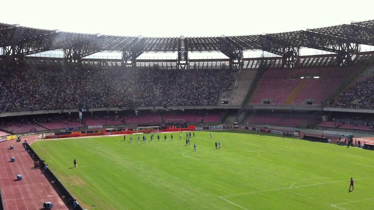 Napoli - Parma 3-1 Rigore Cavani live Curva B - YouTube