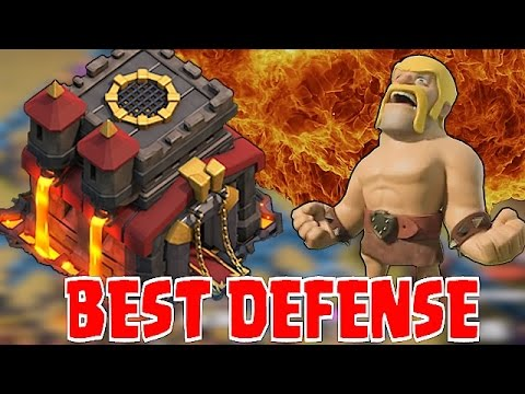 Clash Of Clans - BEST DEFENSE EVER!?! (TH 10 Win streak)