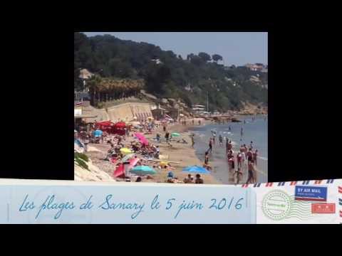 Les plages de Sanary le 5 juin 2016