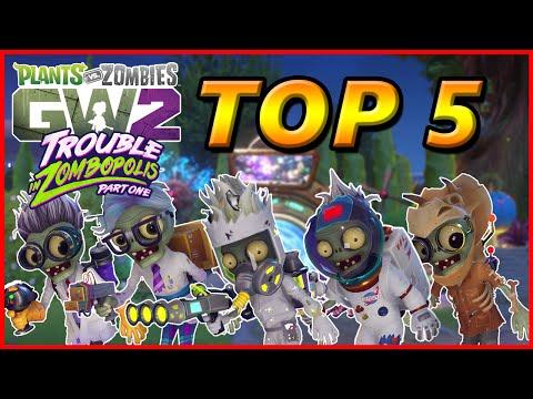 TOP 5 SCIENTISTS  Plants vs Zombies Garden Warfare 2 Top 5 Characters