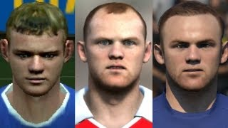 Rooney transformation from FIFA 04 to FIFA 18