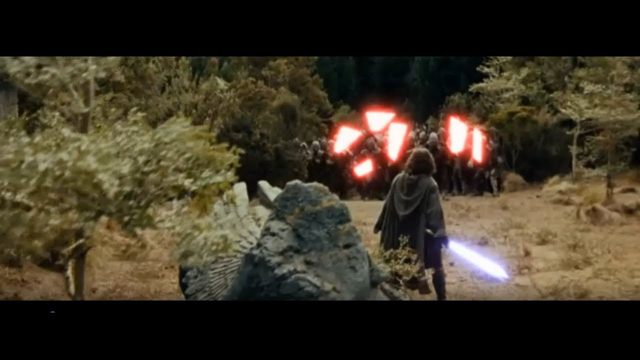 Lord Of The Rings With Lightsabers Youtube