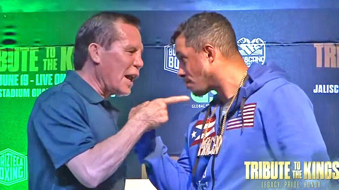 JULIO CESAR CHAVEZ SR. VS HECTOR MACHO CAMACHO JR - FULL FACE OFF VIDEO