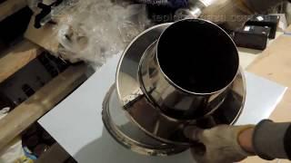 видео Дымоход в Бане, Как сделать противопожарную распушку #Часть5