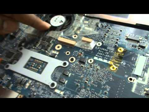 Removing The Dust From Toshiba Satellite Laptop (p200) Part 1