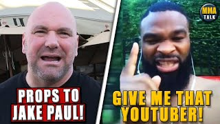 Dana White REACTS to Ben Askren's KO loss to Jake Paul, Woodley calls out Paul, McGregor-Gaethje