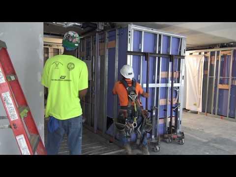 Prefabrication & Modularization: Installing Bathroom PODS