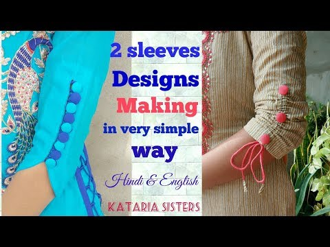 2 Beautiful sleeves designs in very easy way