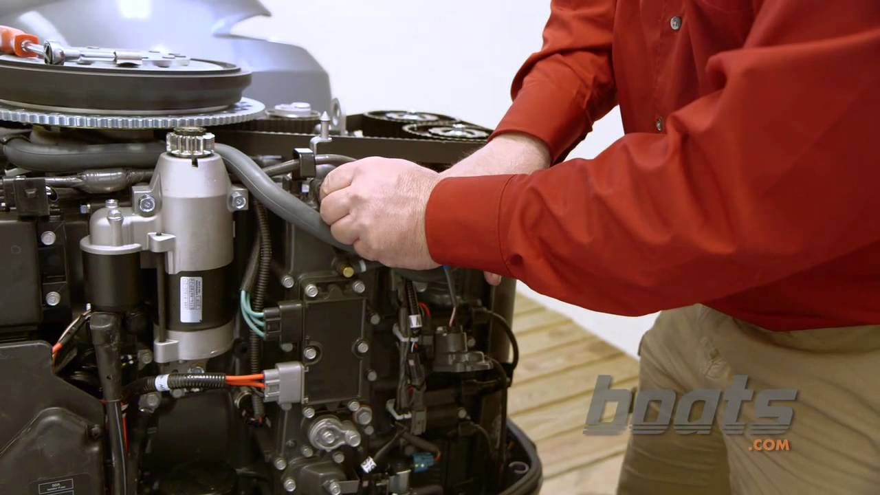 how to change the thermostat on an outboard engine [ 1280 x 720 Pixel ]
