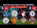 Inilah Hasil Drawing Perempatfinal Piala FA||Leicester vs Manchester utd|8 besar Piala FA 2020/2021.