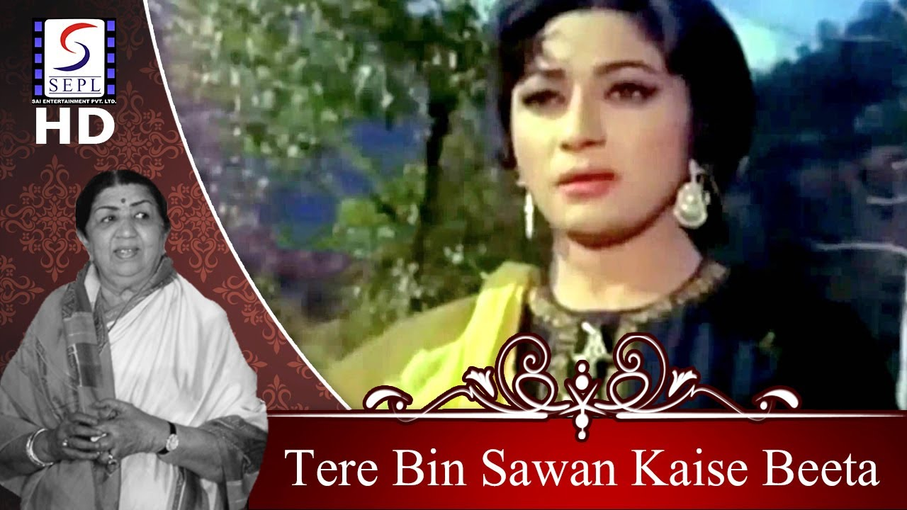 Tere Bin Sawan Kaise Beeta - Lata Mangeshkar | @ Dharmendra, Mala Sinha