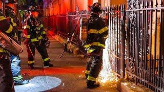 *Pre-Arrival* FDNY Firefighters Run into Burning School; Fire 5th floor [ Manhattan 10-75 Box 1148 ]
