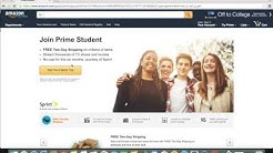 How to get Amazon Prime for Free!!! (Students)