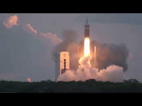 Download Youtube: INTENSE Sound of Orion EFT-1 Launch on Delta IV Heavy Rocket